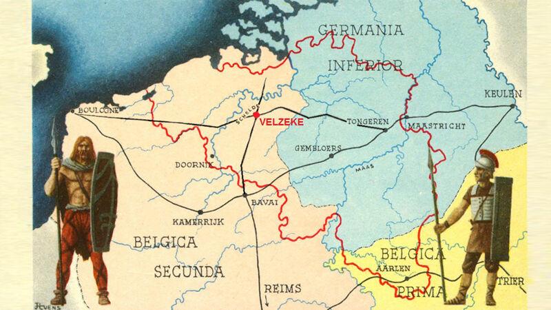 Ligging van Velzeke in de Gallo-Romeinse tijd