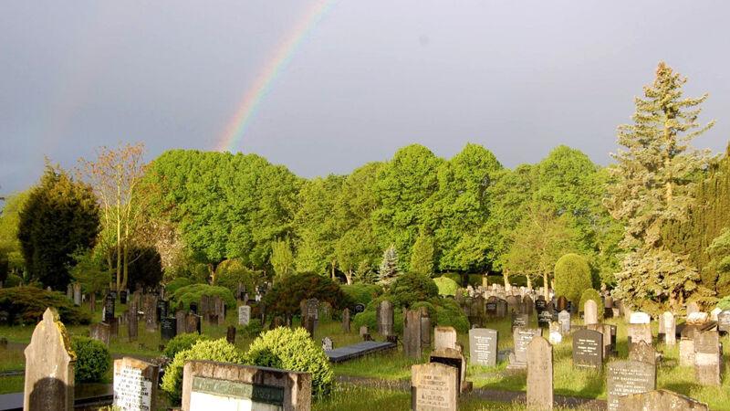 Het oude kerkhof op de Agnietenberg