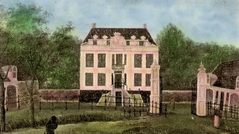 Landgoed Kranenburg in de 18de eeuw, oud schilderij