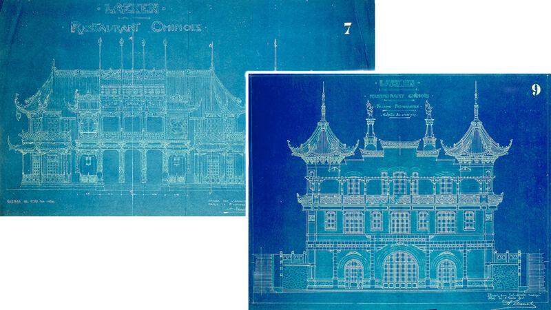 Plannen van het 'Restaurant Chinois', 1901-1903