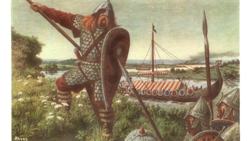 De Noormannen (prent uit de reeks 's Lands Glorie - Historia)