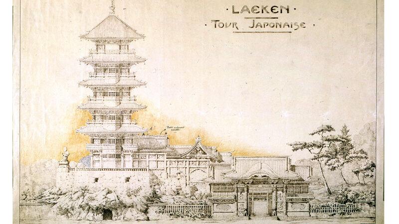 Ontwerptekening voor de 'Tour Japonaise', 1901