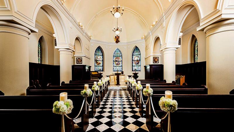 Interieur van de 'Chapel St. Anna'