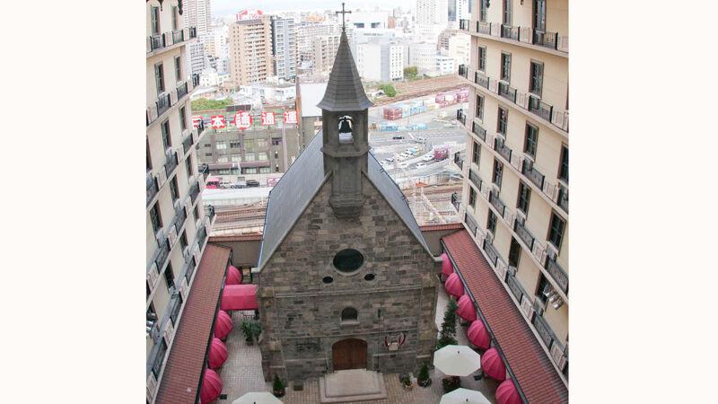 Bovenzicht op de 'Chapel Goedele'
