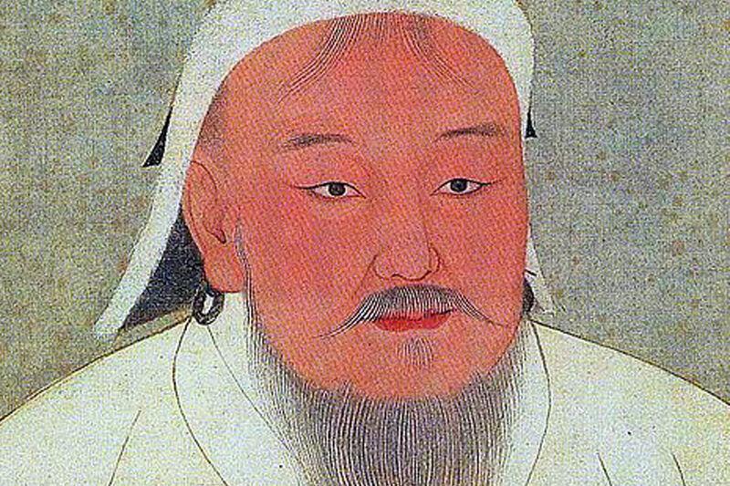Portret van Dzjengis Khan