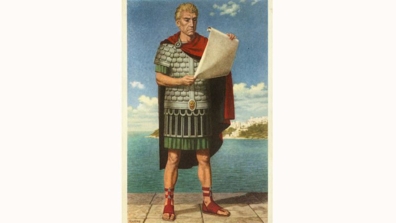 Admiraal Carausius (prent uit reeks 's Lands Glorie - Historia)