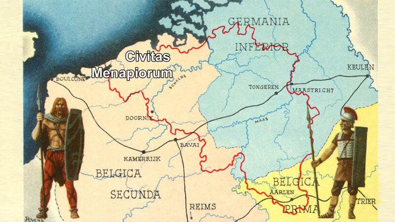 Het stamgebied der Menapiërs in Gallië