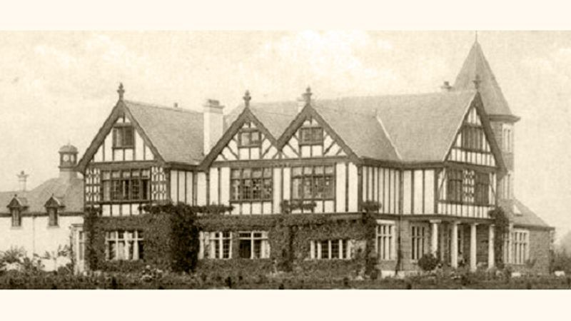 Oude foto van het (nu verdwenen) kasteel Levedale in Wolvertem, hoofdgebouw van het Mütterheim