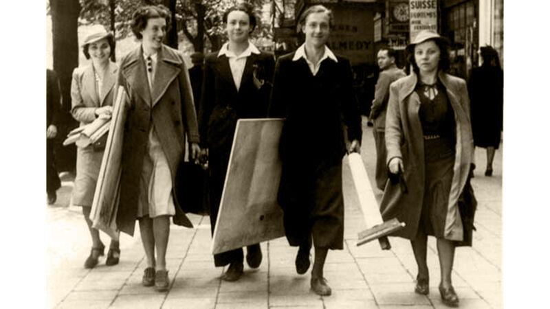 Jan met vrienden van de Academie in Antwerpen.