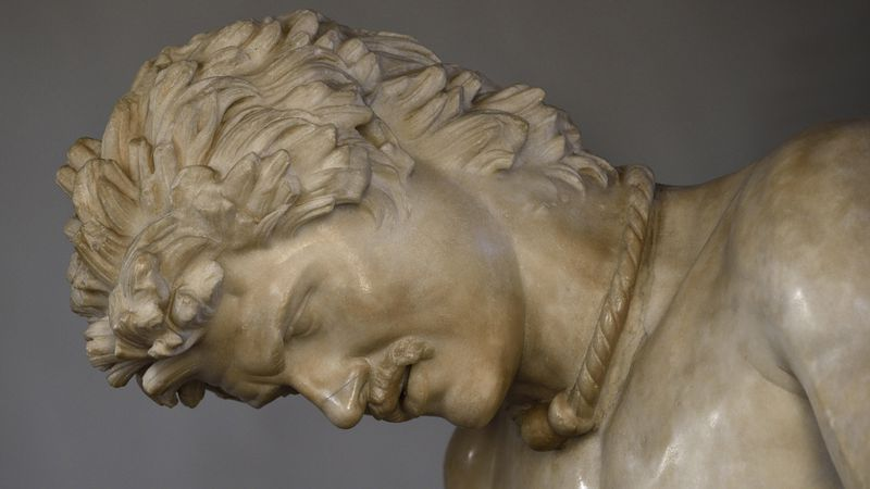 Stervende Galliër, detail met torque