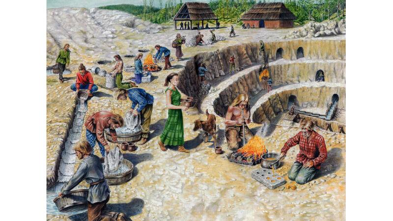 Reconstructie van een Keltische goudmijn