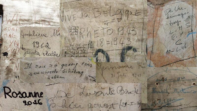 Collage van opschriften en inscripties van 1920 tot 2016