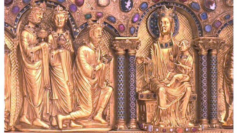 Driekoningenschrijn (ca. 1200), detail