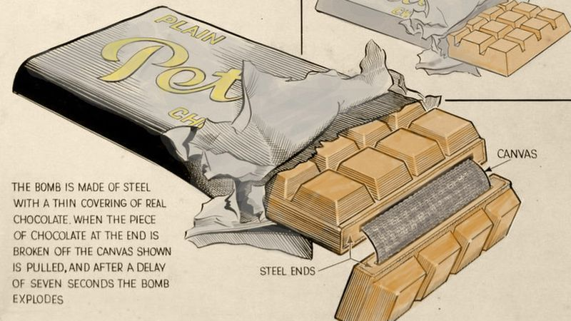 De tekening van Fish met uitleg over de bom