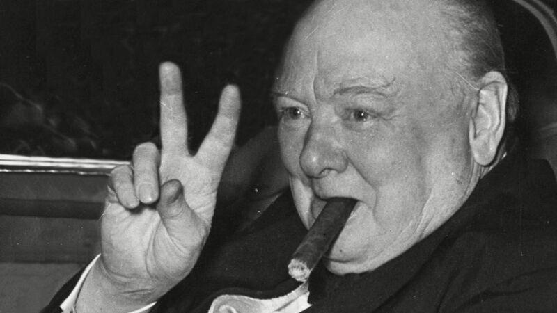 Churchill met zijn onafscheidelijke sigaar