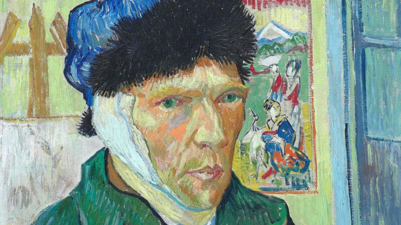 Vincent Van Gogh: Zelfportret met verbonden oor (1889)