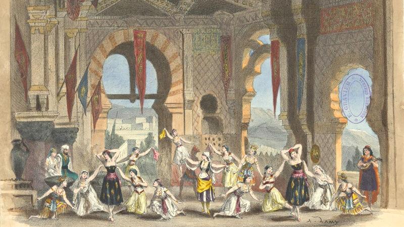 Ballet 'Le Tribut de Zamora' (ingekleurde prent)
