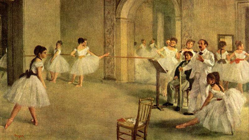 Edgar Degas: Le foyer de la danse (in de vroegere opera Le Peletier)