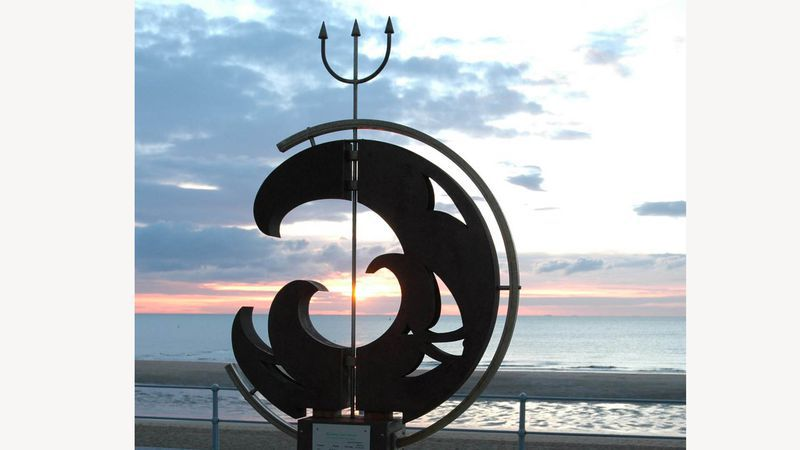 Neptunus, op de zeedijk in Oostende
