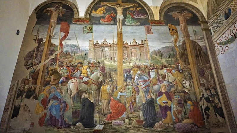 Giovanni Donato da Montorfano: De Kruisiging (1495)