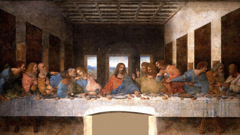 Leonardo da Vinci: Het Laatste Avondmaal (1495-98)