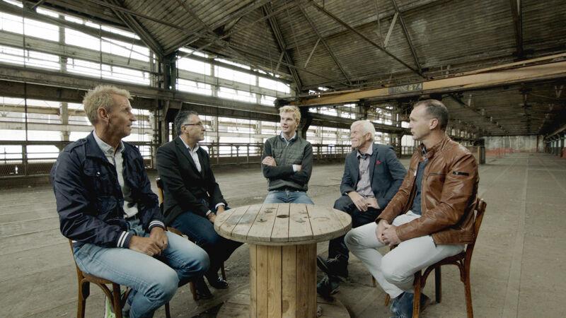 Luik-Bastenaken-Luik 1990: met Eric Van Lancker, Luc Roosen, Peter Winnen en Steven Rooks.