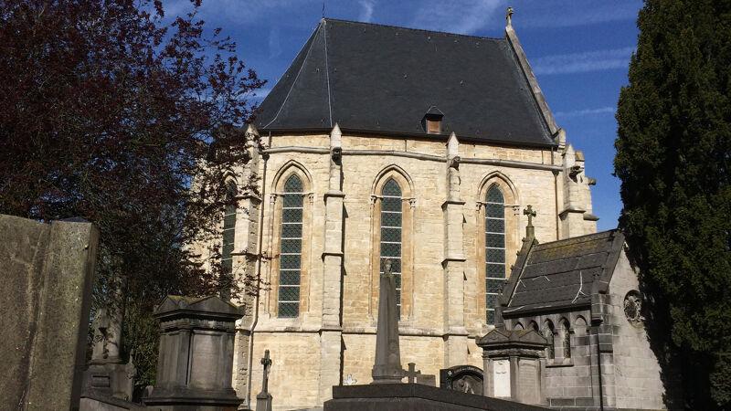 Restant van het koor van de oude Onze-Lieve-Vrouwekerk op het kerkhof van Laken