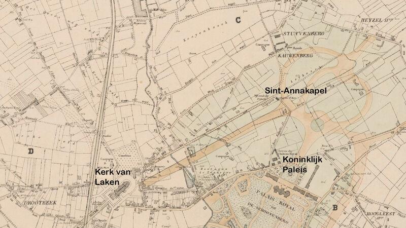 Urbanisatieproject voor de aanleg van nieuwe straten in Laken (1868)