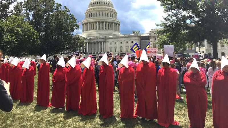 Demonstranten voor het Capitool in Washington