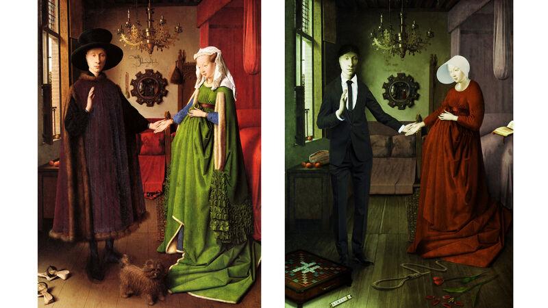 Jan Van Eyck: Het Arnolfini-portret / Adaptie in Handmaid's Tale-stijl