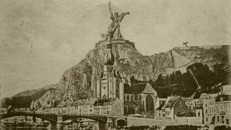 Triomf van het Licht, op de citadelrots in Dinant. Nooit uitgevoerd project.