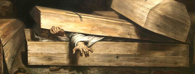 Antoine Wiertz: De overhaaste begrafenis