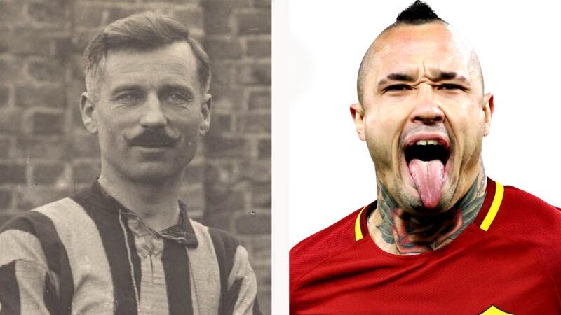Zoek de verschillen: Belgische voetballers vroeger en nu (Torten Goetinck & Radja Nainggolan)
