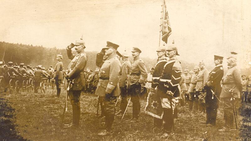Parade voor de Duitse keizer