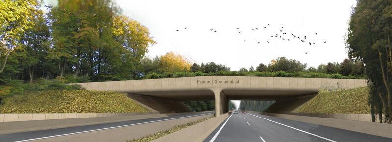 De ecoduct van Groenendaal