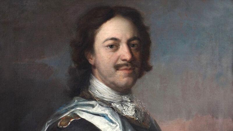 Carel de Moor: portret van tsaar Peter de Grote, gemaakt in Spa in 1717