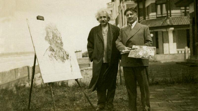 Einstein en Alfons Blomme (8 mei 1933)