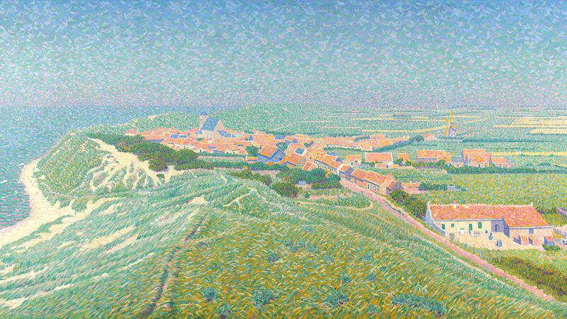 Ferdinand Hart Nibbrig: Gezicht op het dorp Zoutelande op Walcheren (1900-1912)