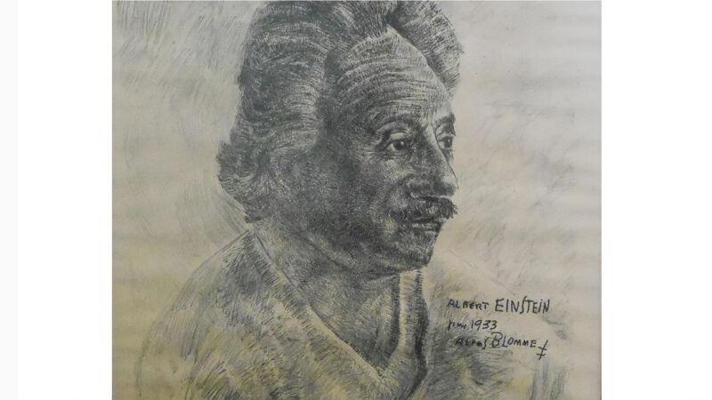 Alfons Blomme: portret van Einstein (1933)