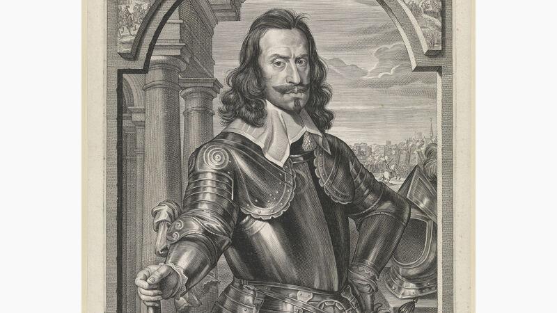 Portret van Andrea Cantelmo: gravure van Paulus Pontius naar het schilderij van Michaelina Wautier