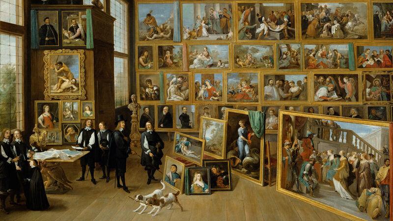 David Teniers II: Kunstkabinet van aartshertog Leopold Willem te Brussel