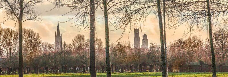 De skyline van Brugge