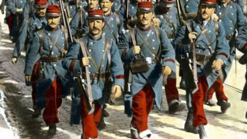 Franse soldaten met de rode uniformbroeken