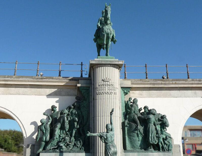 Leopold II-monument op de Zeedijk, Oostende