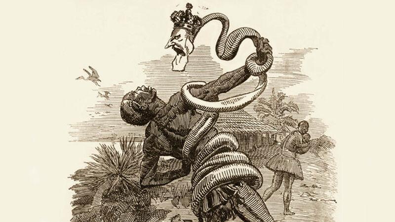 The Congo 'Free' State. Cartoon uit het Engelse tijdschrift Punch, 1906