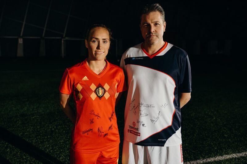 Teamkapiteins Janice Cayman en Wim Stevens
