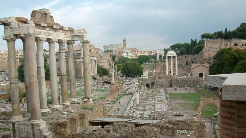 Forum Romanum, waar o.m. de tempel van Veiovis een asielfunctie had