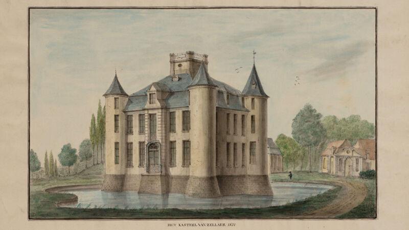 August Van den Eynde: het kasteel van Zellaer, 1851