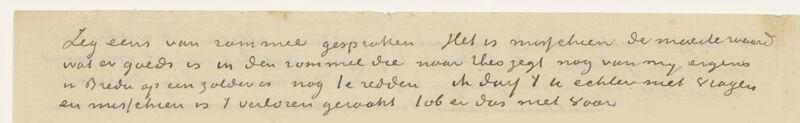 Brief van Vincent Van Gogh aan zijn zus Willemien, 20 juni 1888