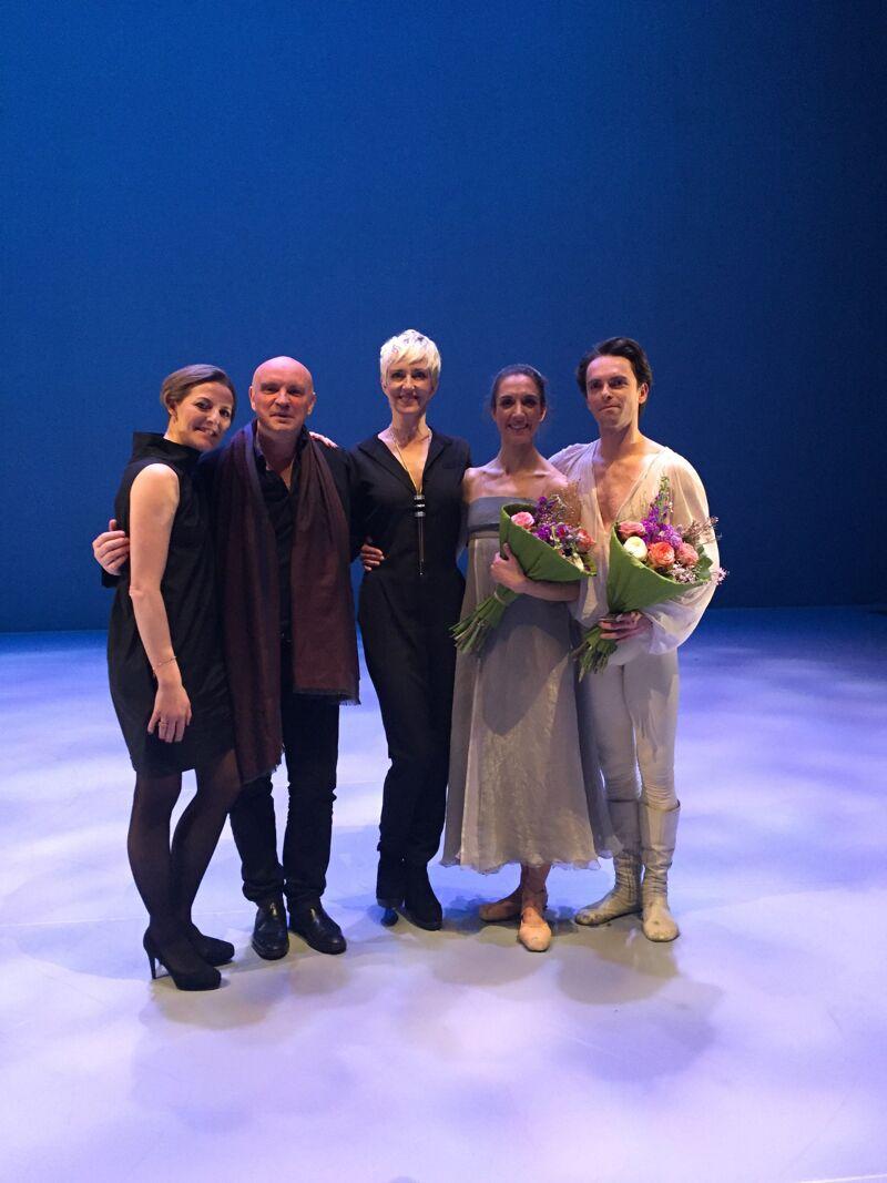 Hanne Decoutere met de choreograaf van het stuk, Jean-Christophe Maillot.